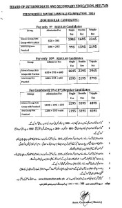 fee schedule  Regular SSC Annual 2016